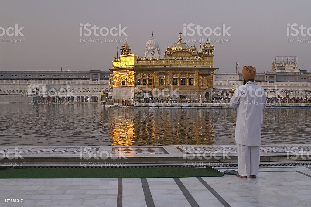 Travel to India - Amritsar. Golden Temple royalty-free stock photo