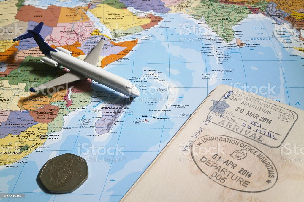 Travel to Mauritius stock photo