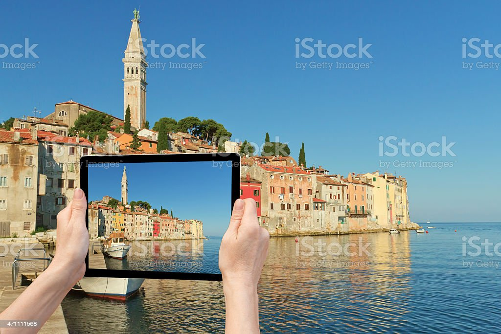 Travel to Rovinj (Croatia) stock photo