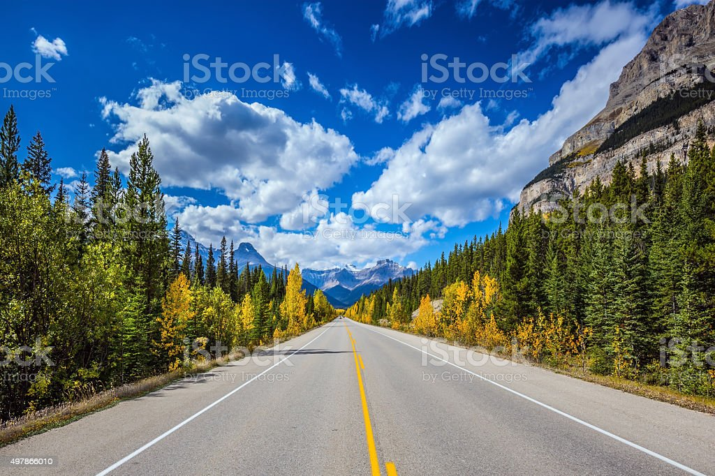 Travel to the Canadian Rockies stock photo