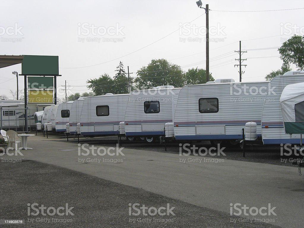 Travel Trailers royalty-free stock photo