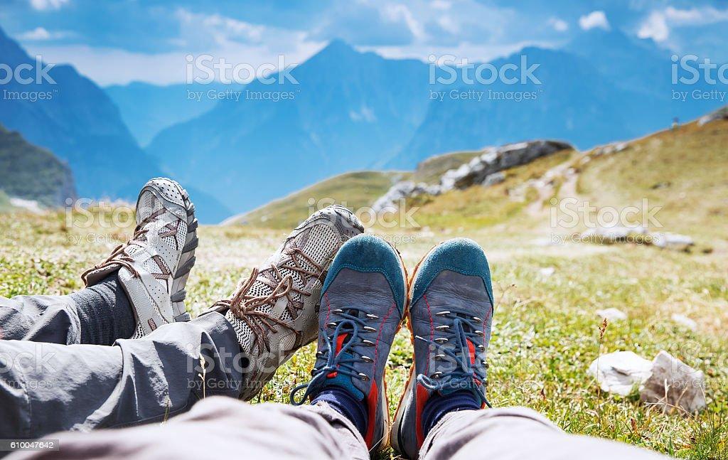 Travel trekking leisure holiday concept. stock photo