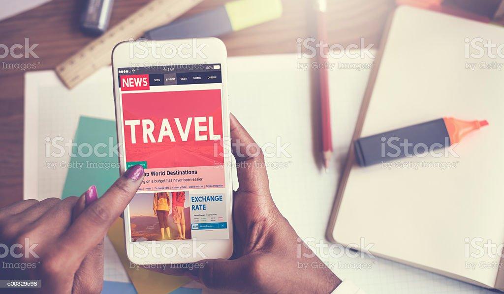 Travel Vacation Holiday Destination Journey Digital Concept stock photo