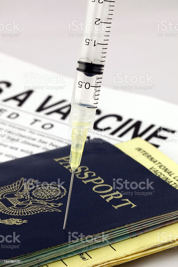 travel vaccines royalty-free stock photo