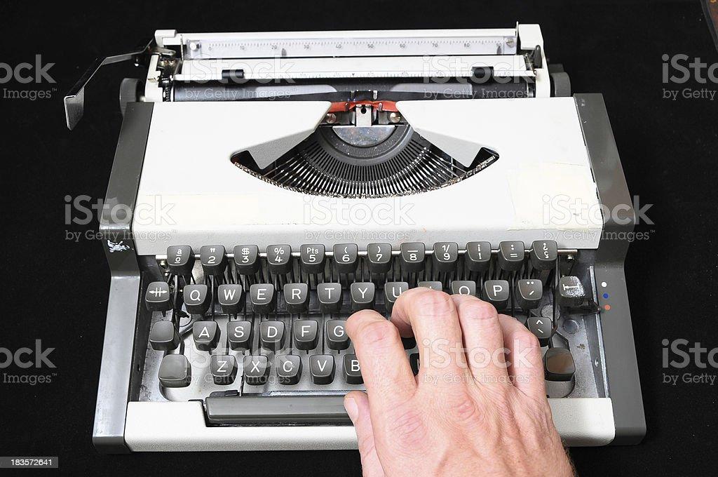 Travel Vintage Typewriter royalty-free stock photo