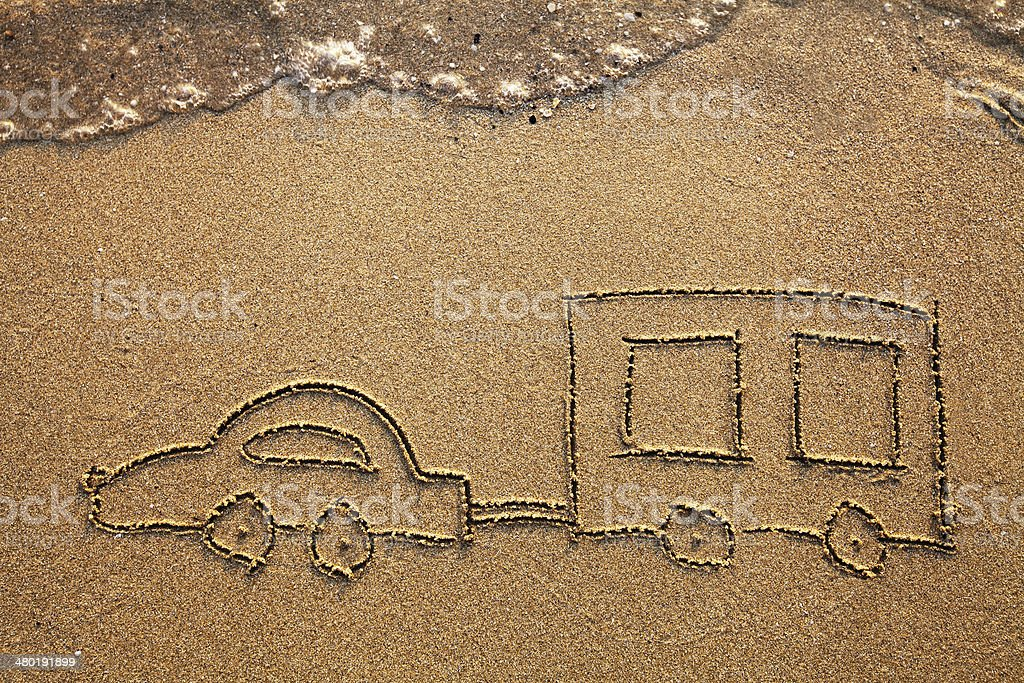 travel with car stock photo
