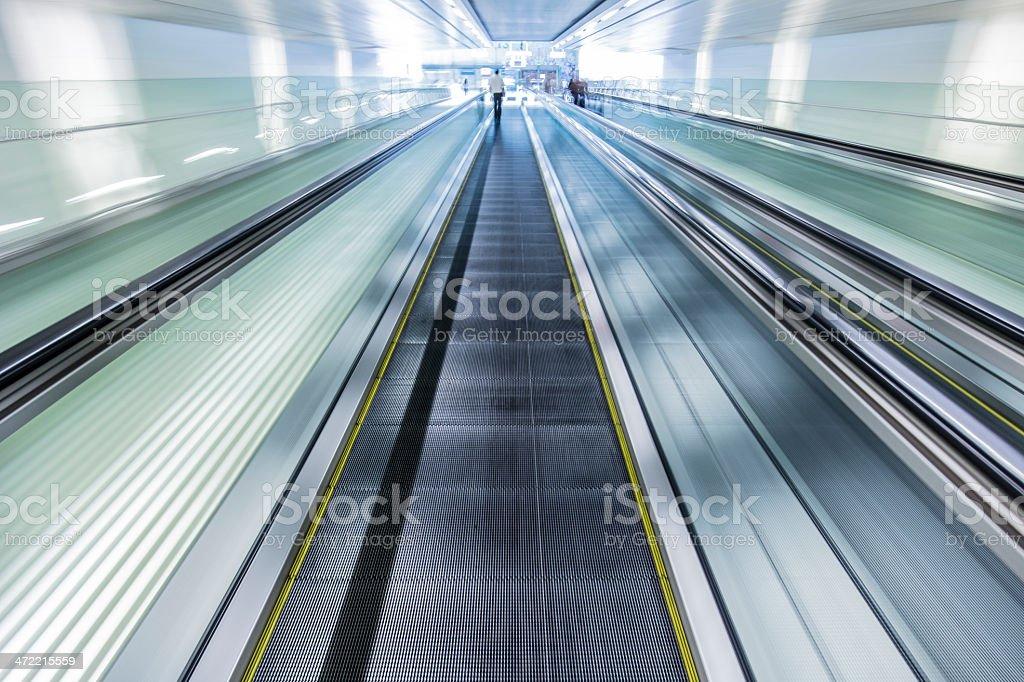 Travelator Changi Airport Terminal 3 stock photo