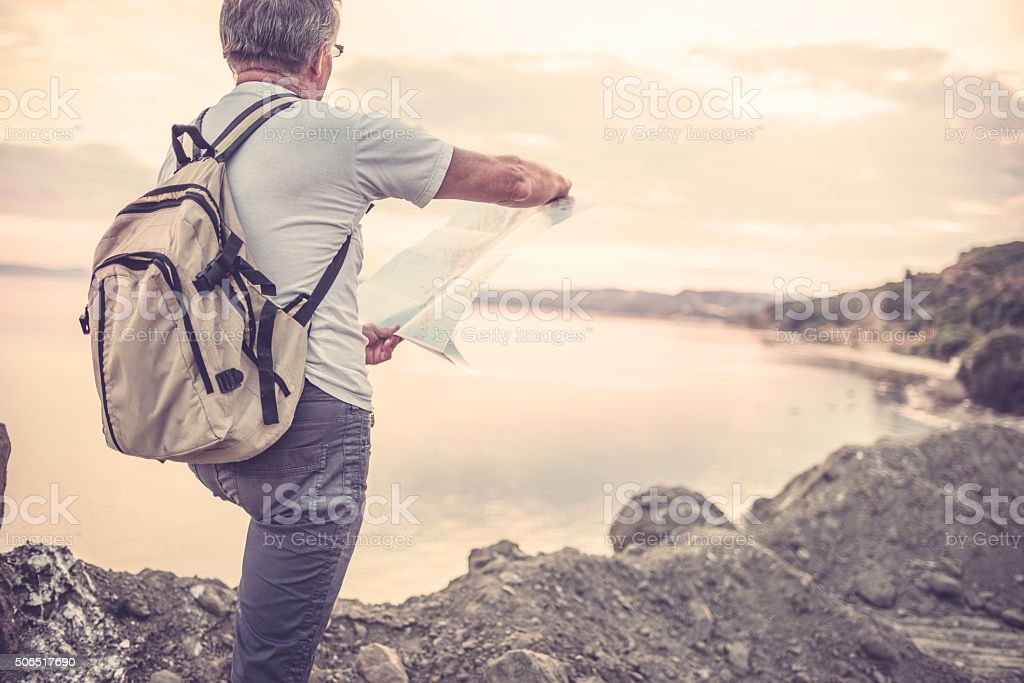 Traveler explore the place stock photo