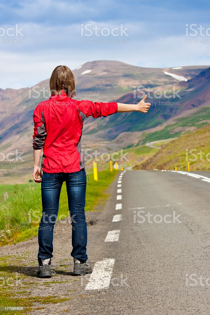 Traveler / hitchhiker royalty-free stock photo