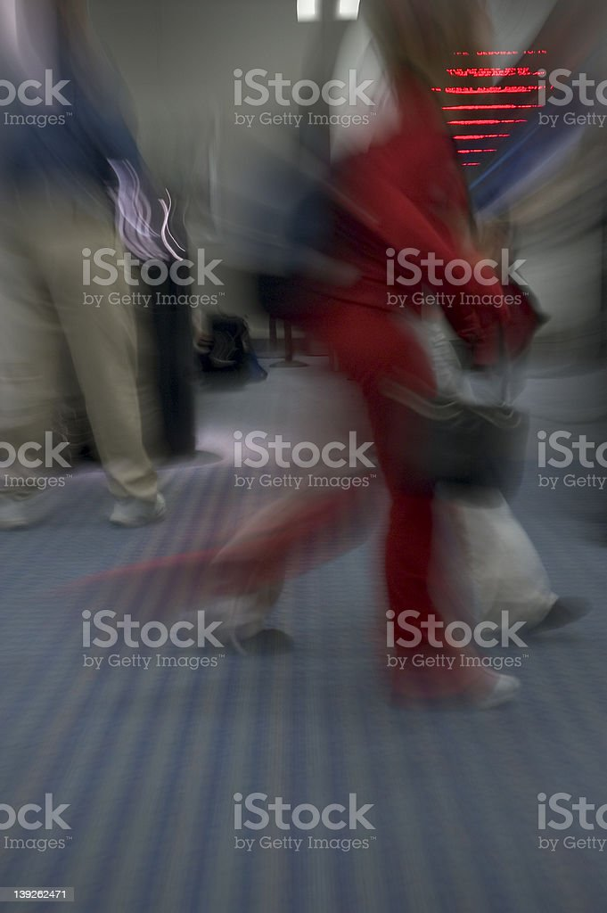 Traveler in a Rush royalty-free stock photo
