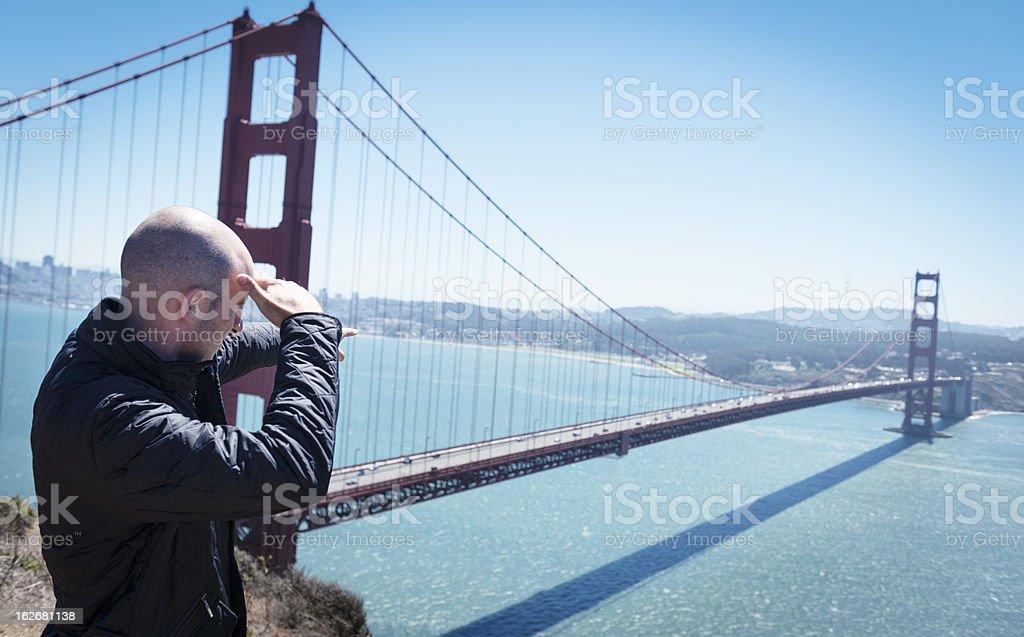 Traveler Looking forward on San Francisco royalty-free stock photo