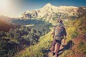 Traveler Man hiking Travel Lifestyle