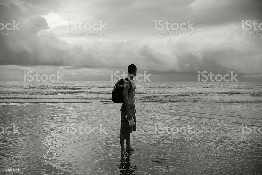 Man and sea royalty-free stock photo