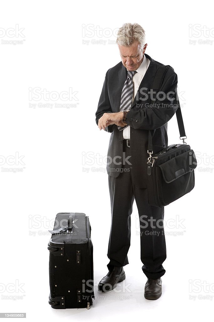 Traveler waiting royalty-free stock photo