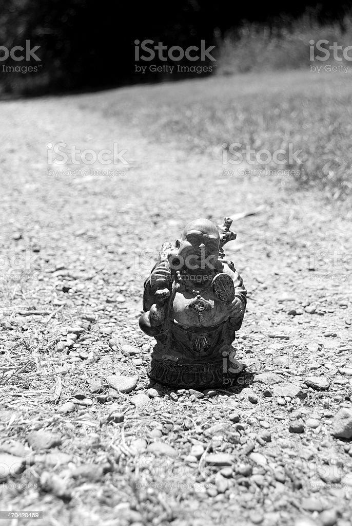 Traveling Buddha on a Path stock photo