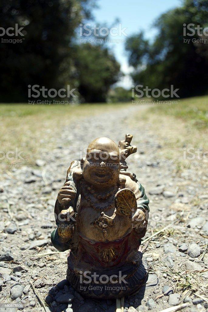 Traveling Buddha stock photo