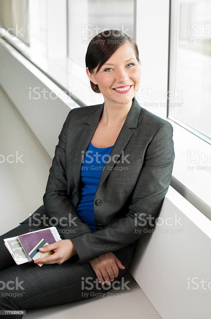 Traveling business woman royalty-free stock photo