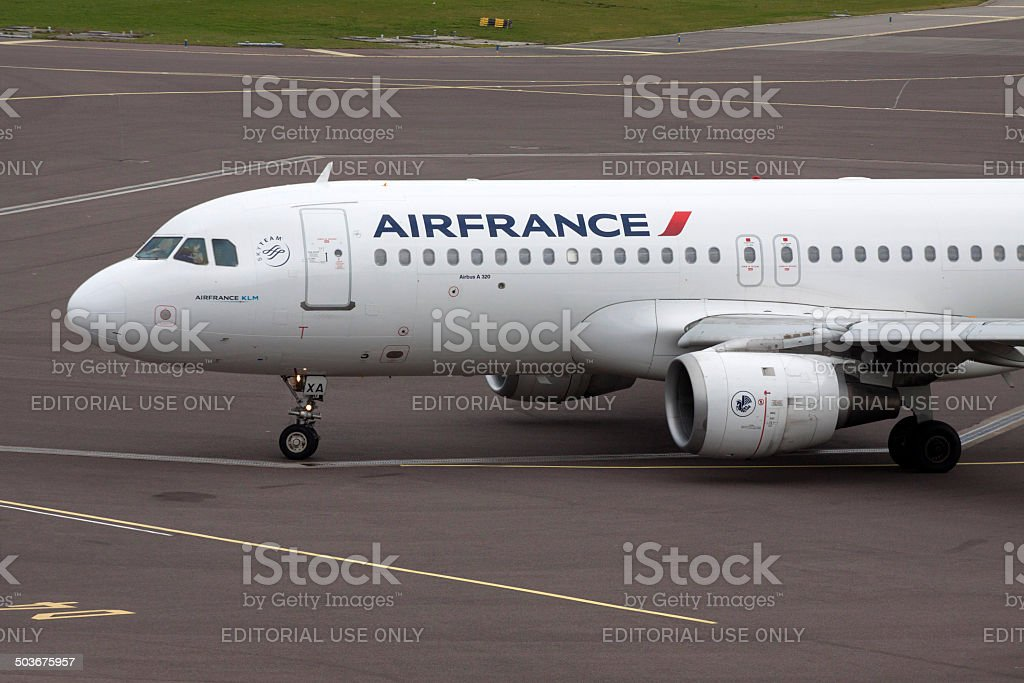 Traveling by airfrance. stock photo