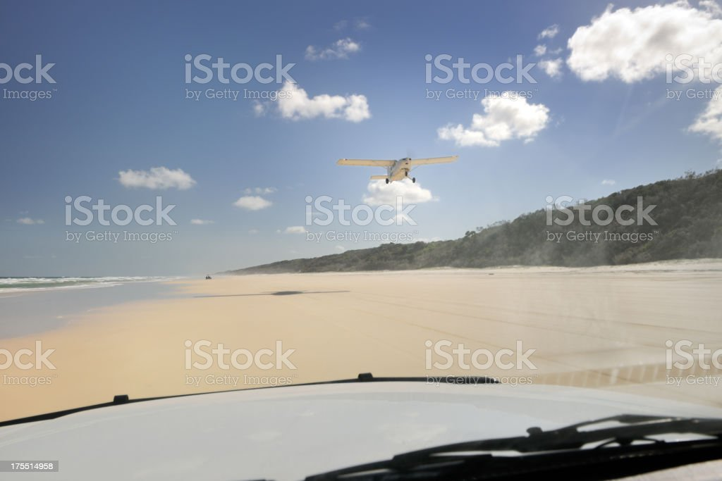 'Traveling by Car and Plane on Fraser Island, Australia (XXXL)' stock photo