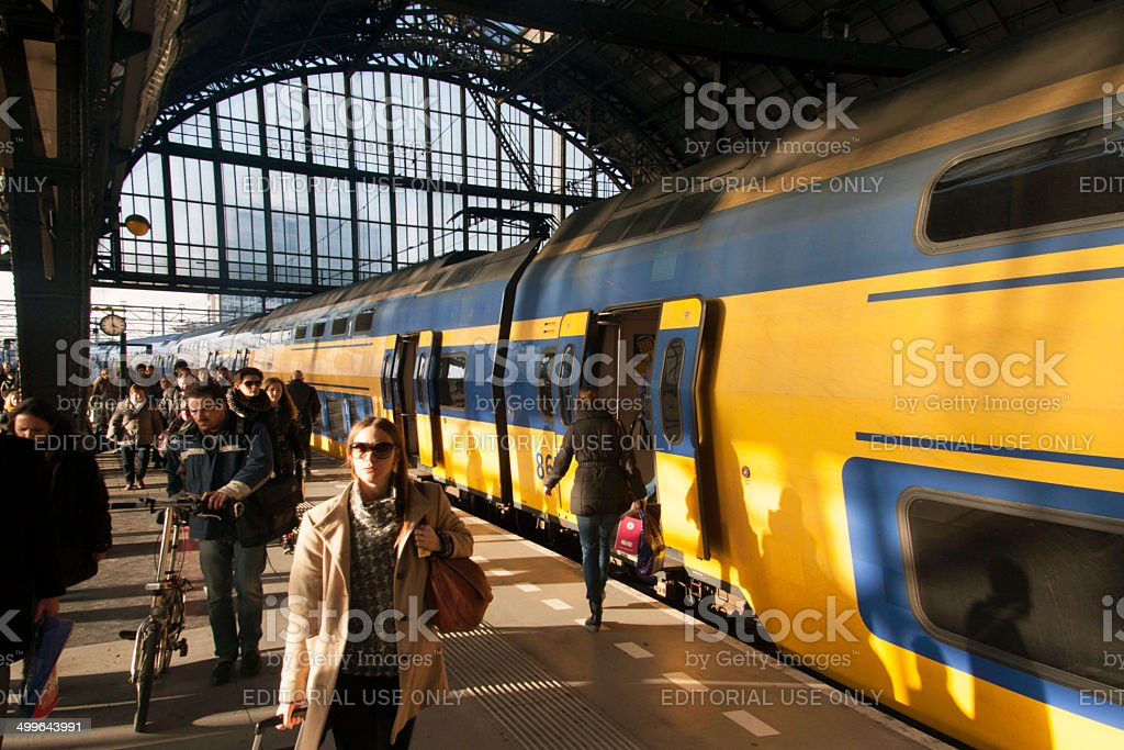 Traveling by train. stock photo