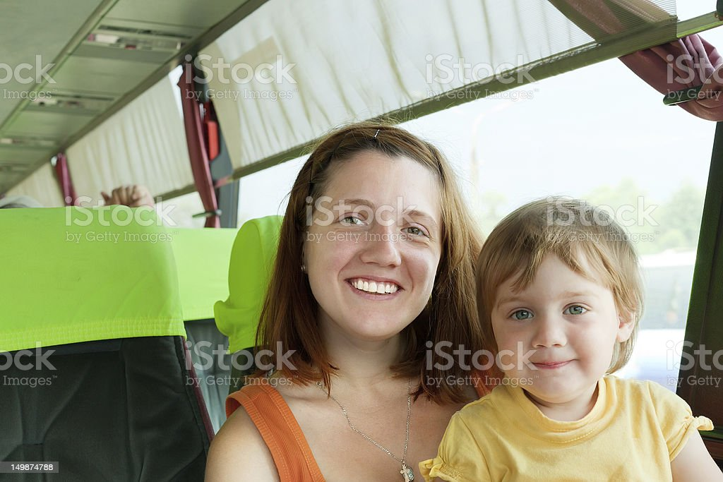 traveling family royalty-free stock photo