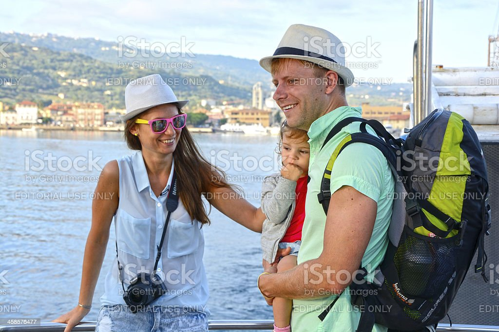 Traveling family stock photo
