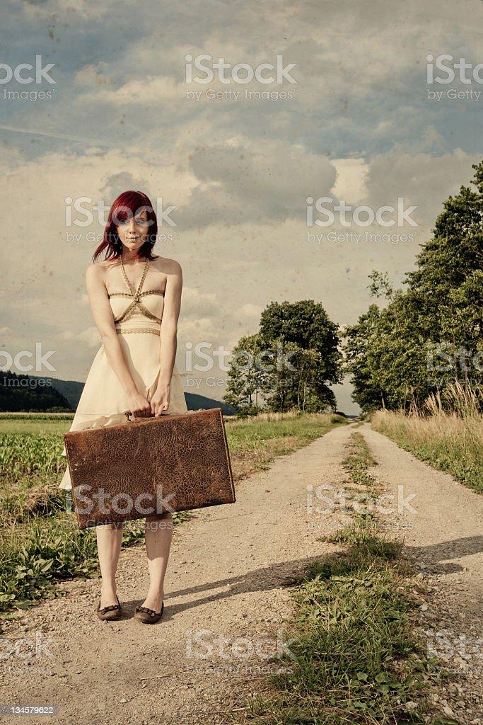 Traveling girl... stock photo
