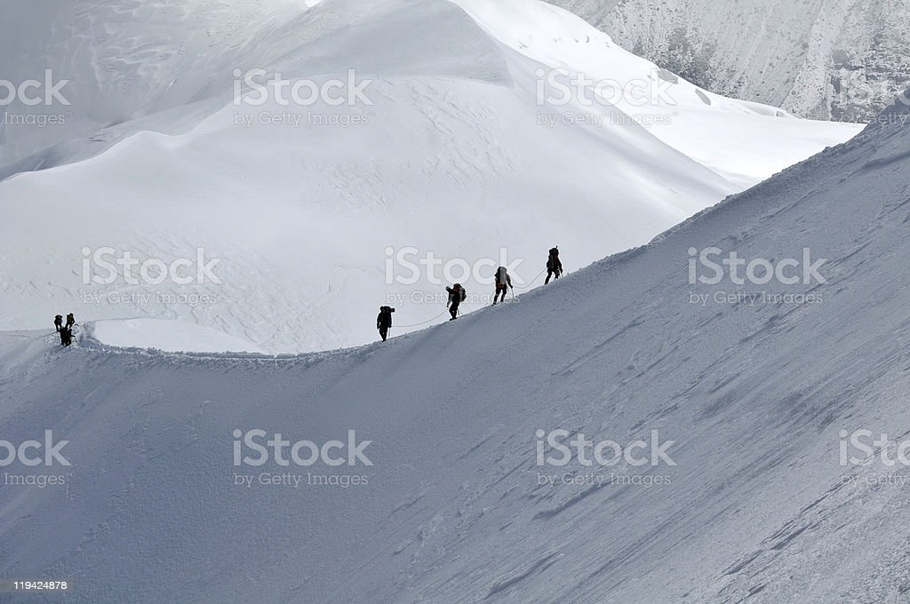 Traveling in Alps royalty-free stock photo