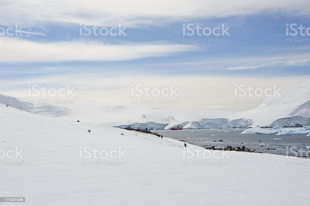 Traveling in Antarctica stock photo