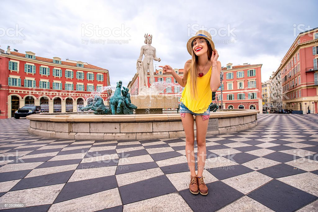 Traveling in Nice stock photo