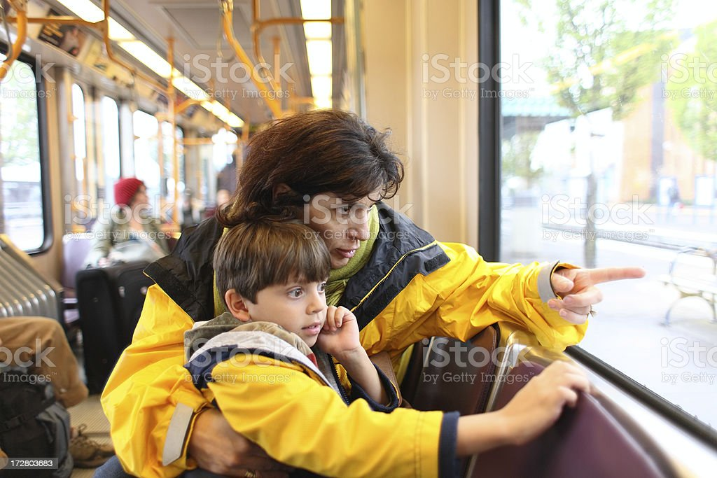 Traveling In Train royalty-free stock photo
