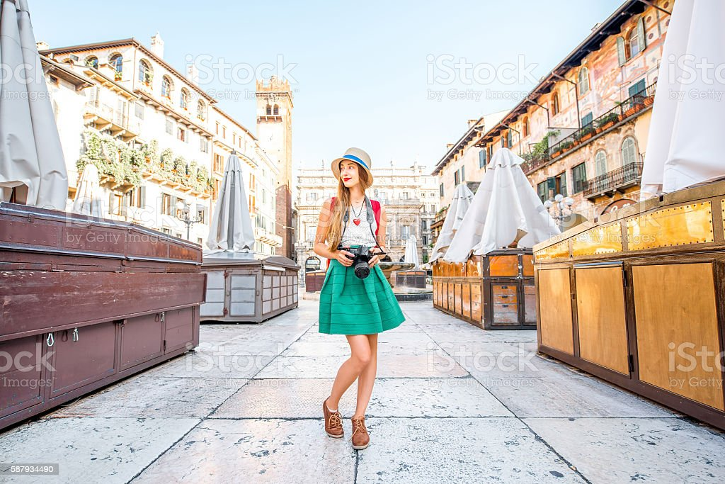 Traveling in Verona city stock photo