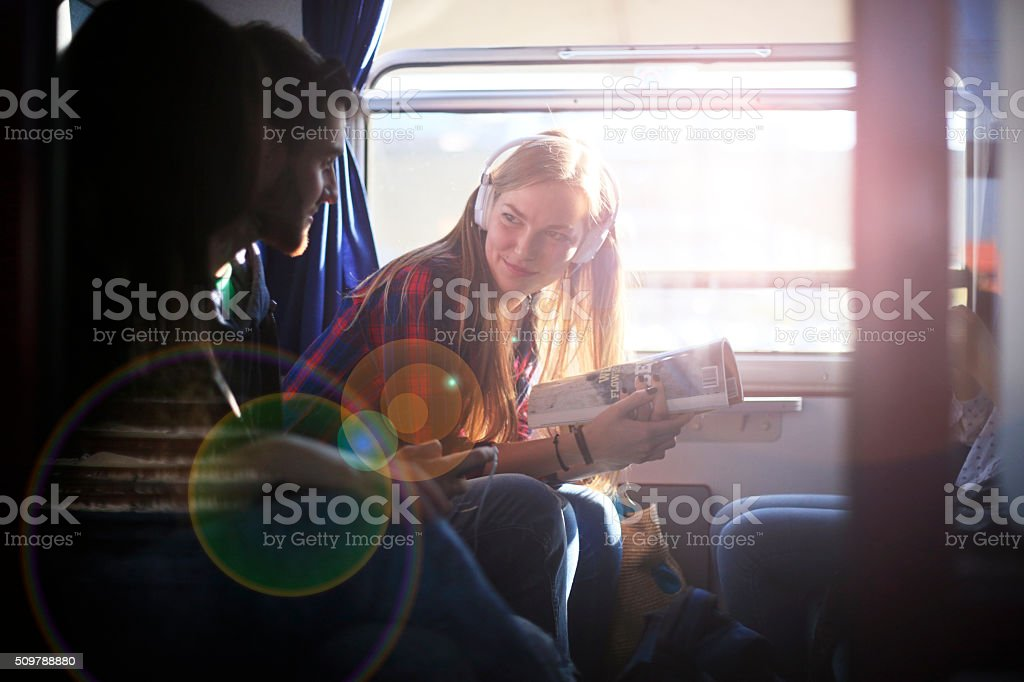 Traveling is fun and makes you feel free stock photo