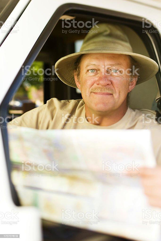 Traveling Man royalty-free stock photo