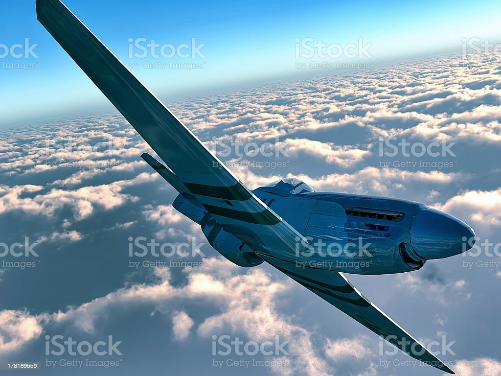 Traveling on small plane royalty-free stock photo
