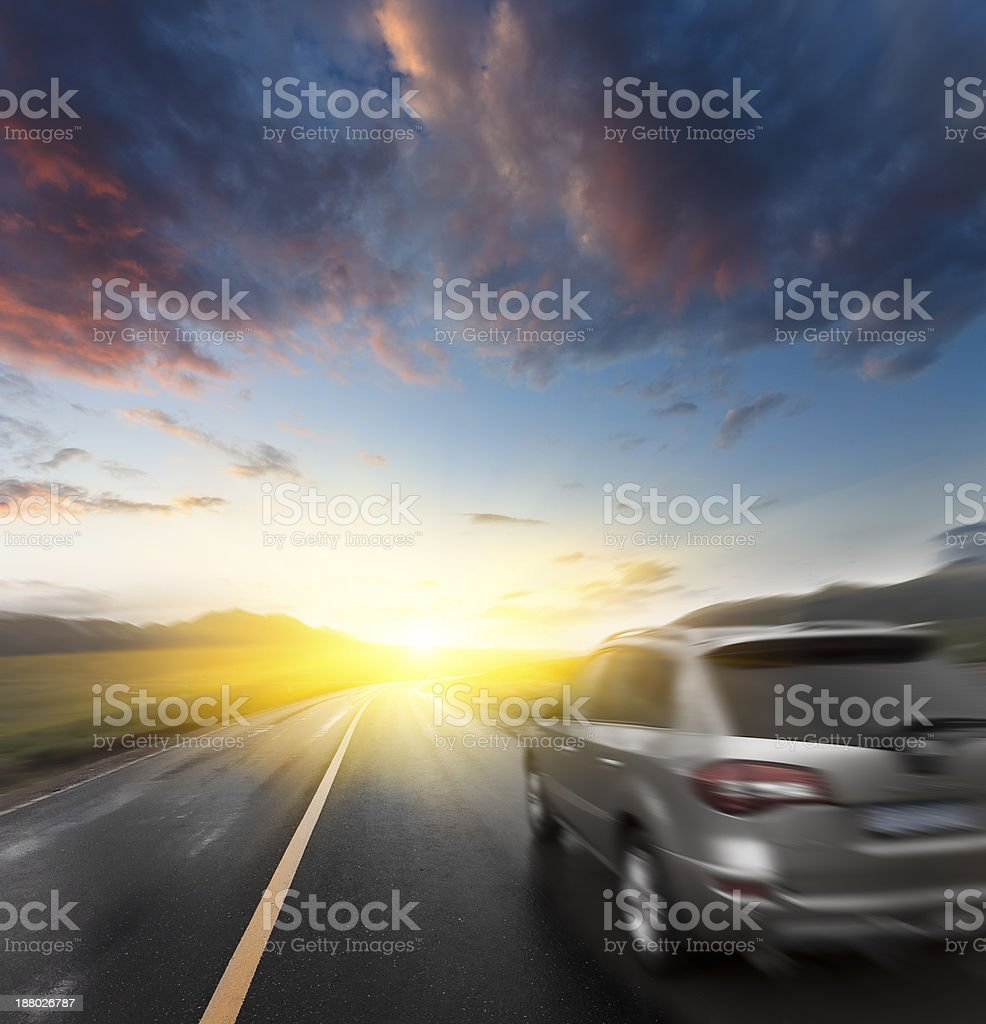 traveling on the road stock photo