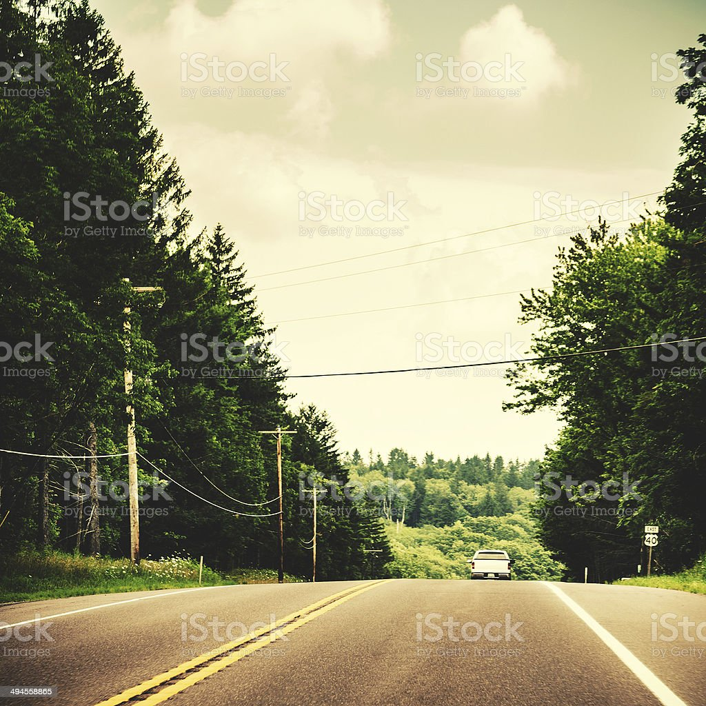 traveling on the road royalty-free stock photo