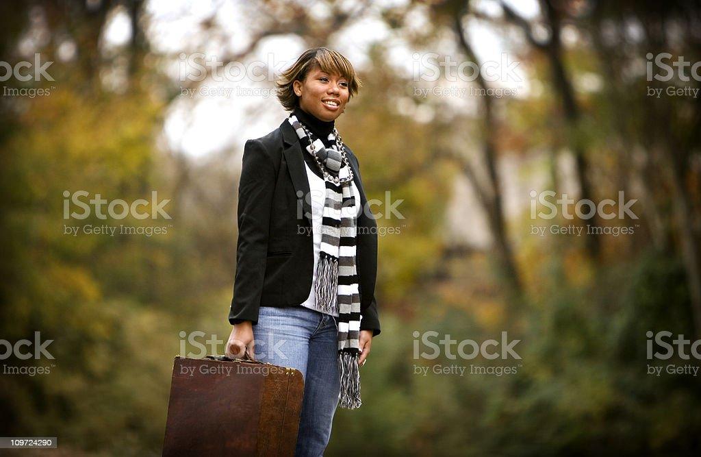 traveling portraits stock photo