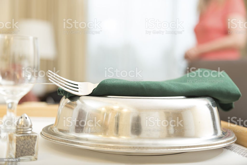 Traveling:  Room service delivered in hotel suite. royalty-free stock photo