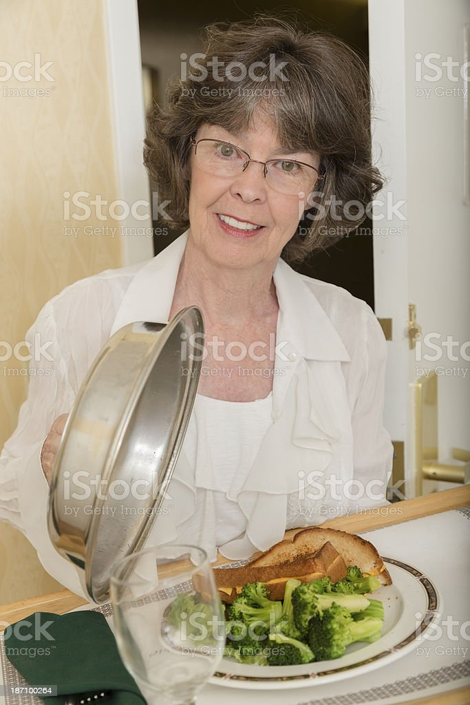 Traveling:  Room service delivered to hotel suite. royalty-free stock photo