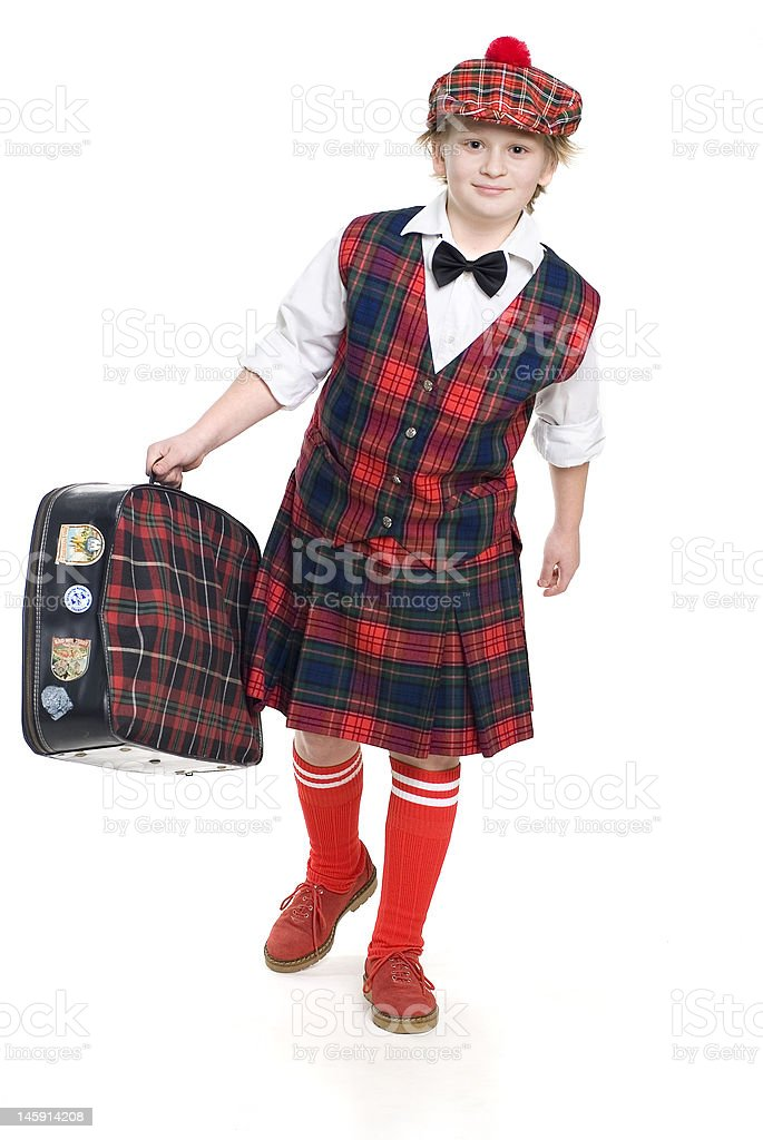traveling scotsman royalty-free stock photo