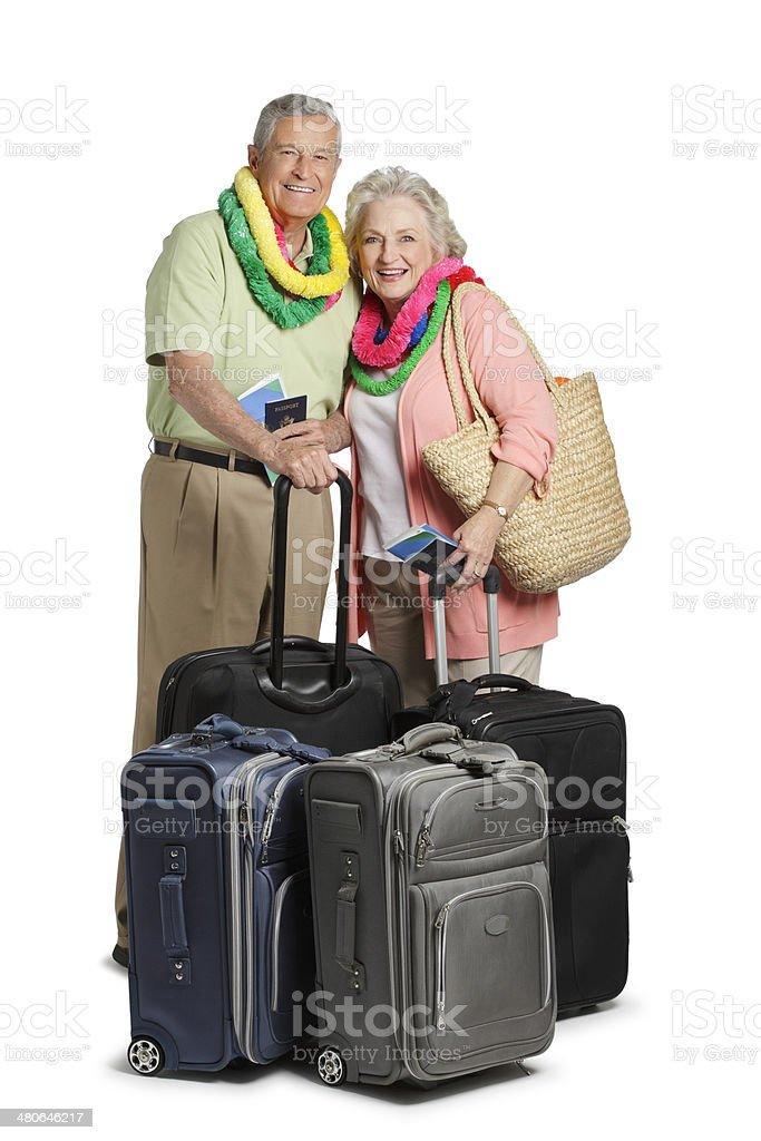 Traveling Senior Citizens royalty-free stock photo