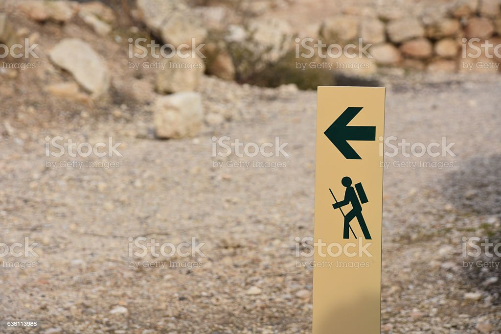 Traveling Sign stock photo