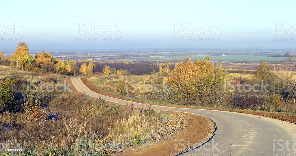 traveling the roads of Russia royalty-free stock photo
