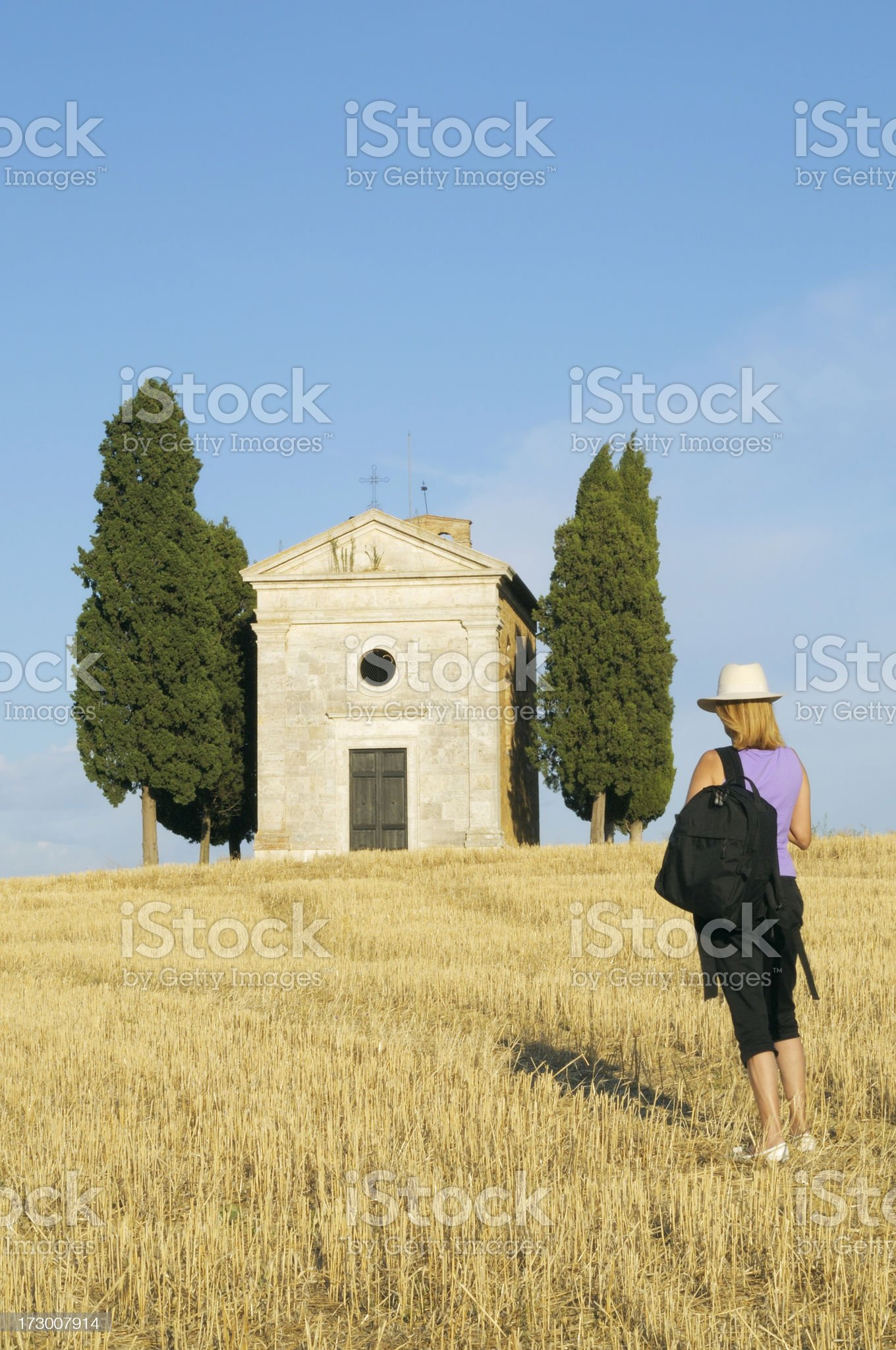 traveling to the chapel royalty-free stock photo