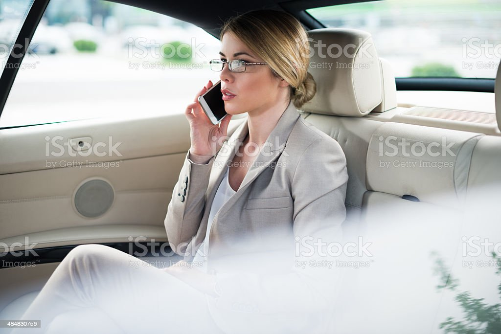 Traveling to work stock photo