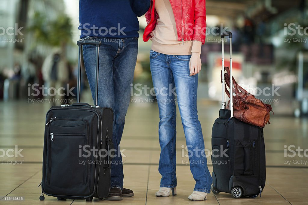 Traveling with bags royalty-free stock photo