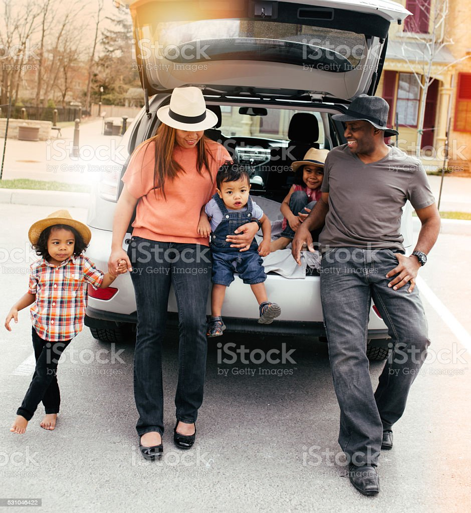Traveling with little kids stock photo