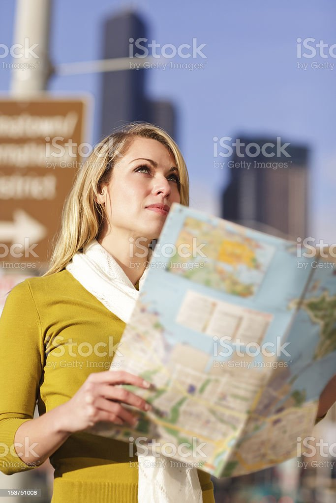 Traveling woman royalty-free stock photo