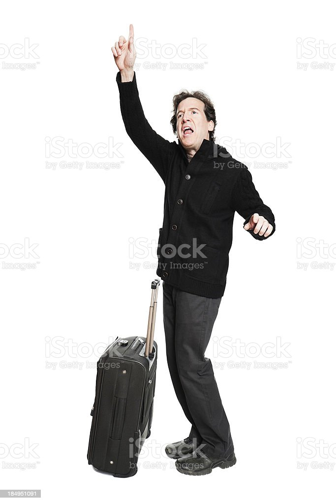 Traveller gesturing for help royalty-free stock photo
